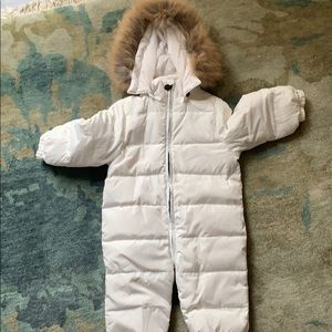 Other - Like brand new puffed snowsuit  with real fur trim